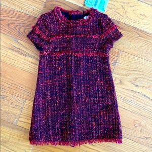 Warm tweed dress